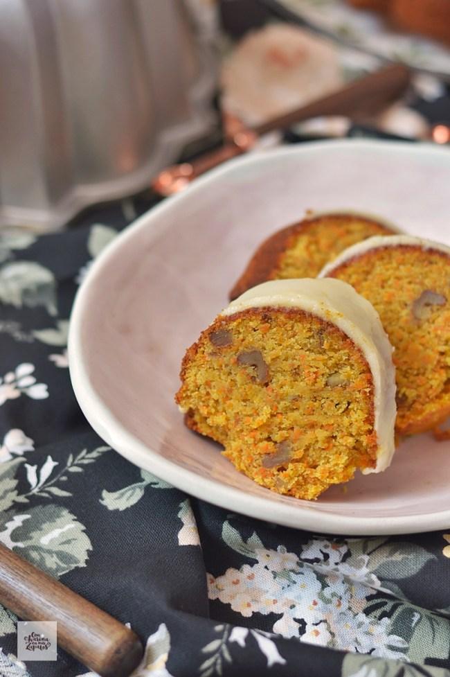 Bundt Cake de Zanahoria. Sin Gluten | CON HARINA EN MIS ZAPATOS