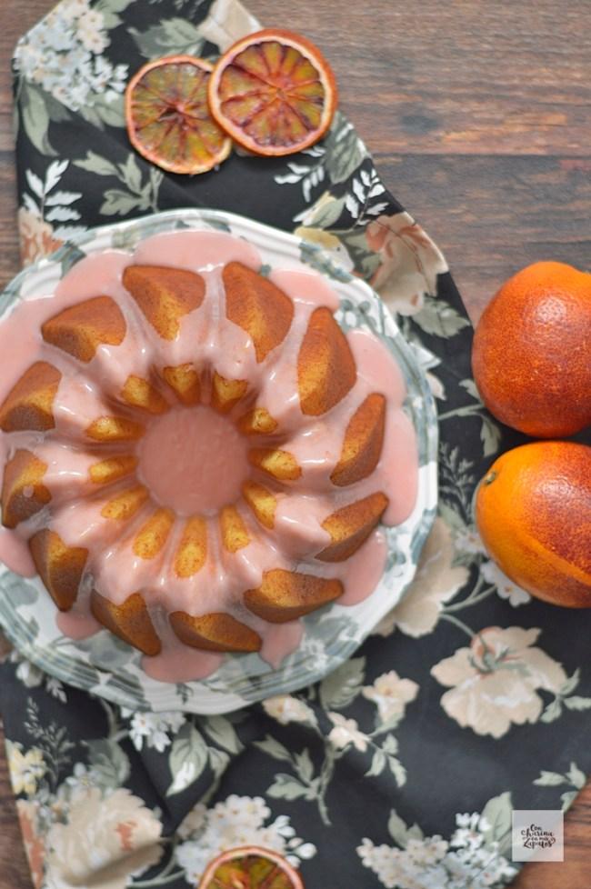 Bizcocho de Naranja Sanguina y Azahar | CON HARINA EN MIS ZAPATOS