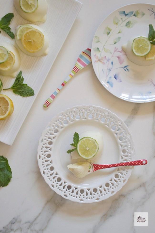 Panna Cotta de Lima y Limón | CON HARINA EN MIS ZAPATOS
