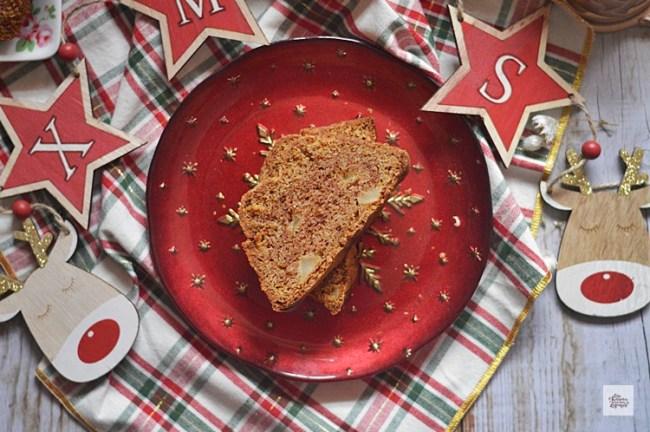 Bizcocho de Manzana, Especias y Sésamo Caramelizado | CON HARINA EN MIS ZAPATOS