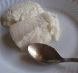 Bavarois de coco al ron