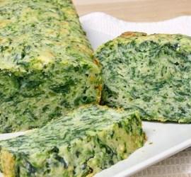 Budìn de espinaca y queso