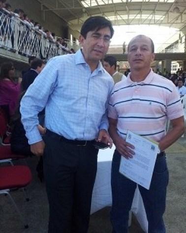 Ministro Diego Molano y Alberto Castañeda