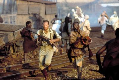 THE GHOST AND THE DARKNESS, Val Kilmer,  John Kani, 1996, ©Paramount