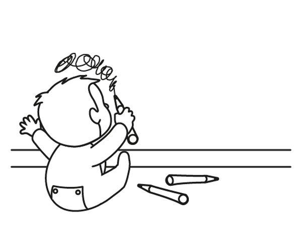 Dibujos Para Pintar De Ciguena Con Bebe