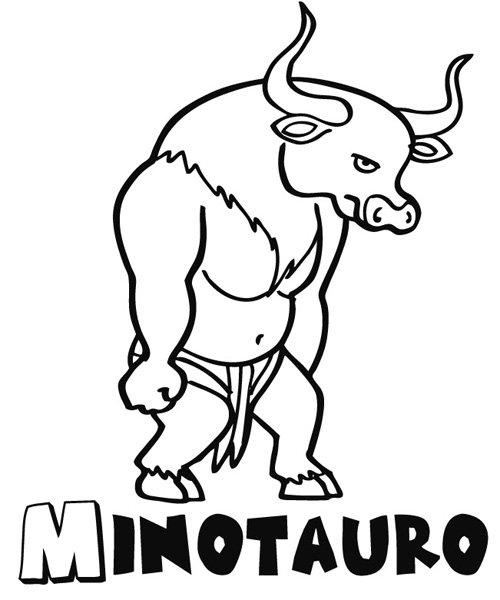 minotauro dibujos para colorear