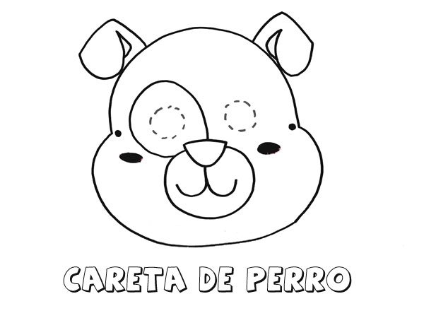 perros niño colouring pages
