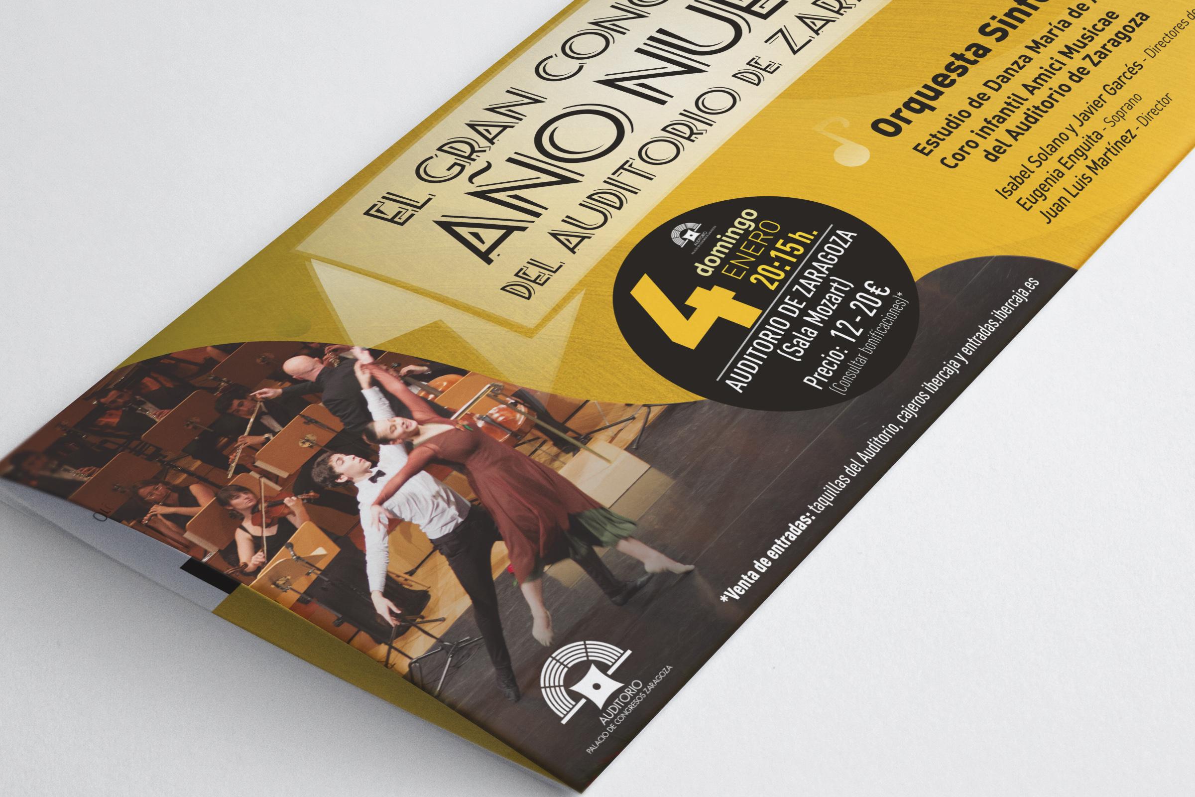 Flyer Año Nuevo Zaragoza Orquesta Sinfonica de Goya Zaragoza