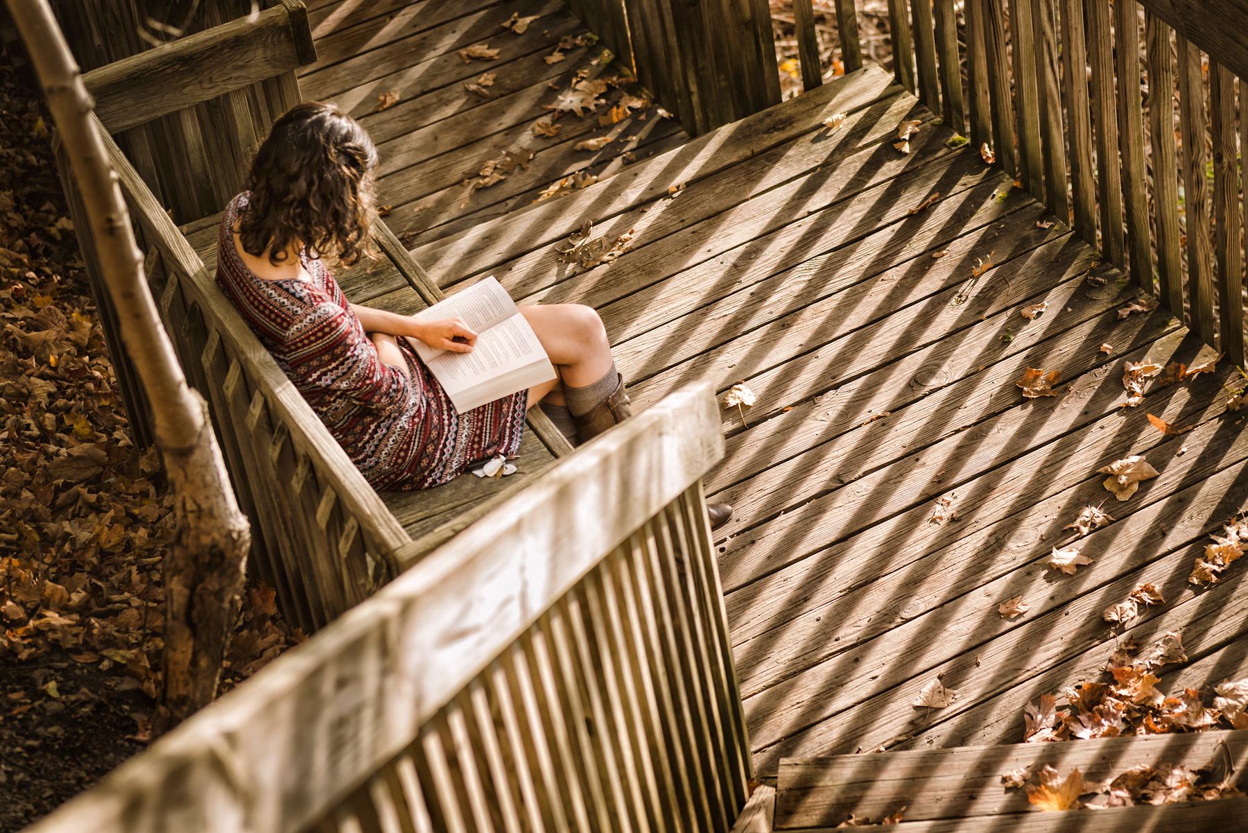Beebe lake Girl reading Ithaca