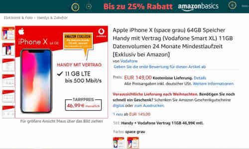 Iphone X Mit Vodafone Vertrag Bei Amazon Lohnt Sich Das Angebot Connect