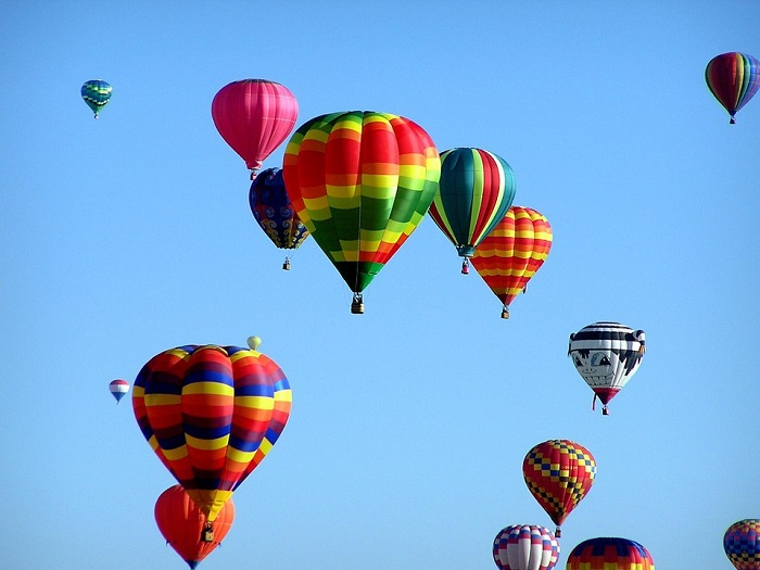 9. hot air balloons