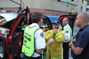 Firemen on Phone
