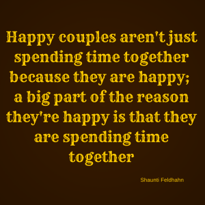Happy couples aren't just spending time