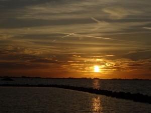 k-Sonnenuntergang auf der mosselbank