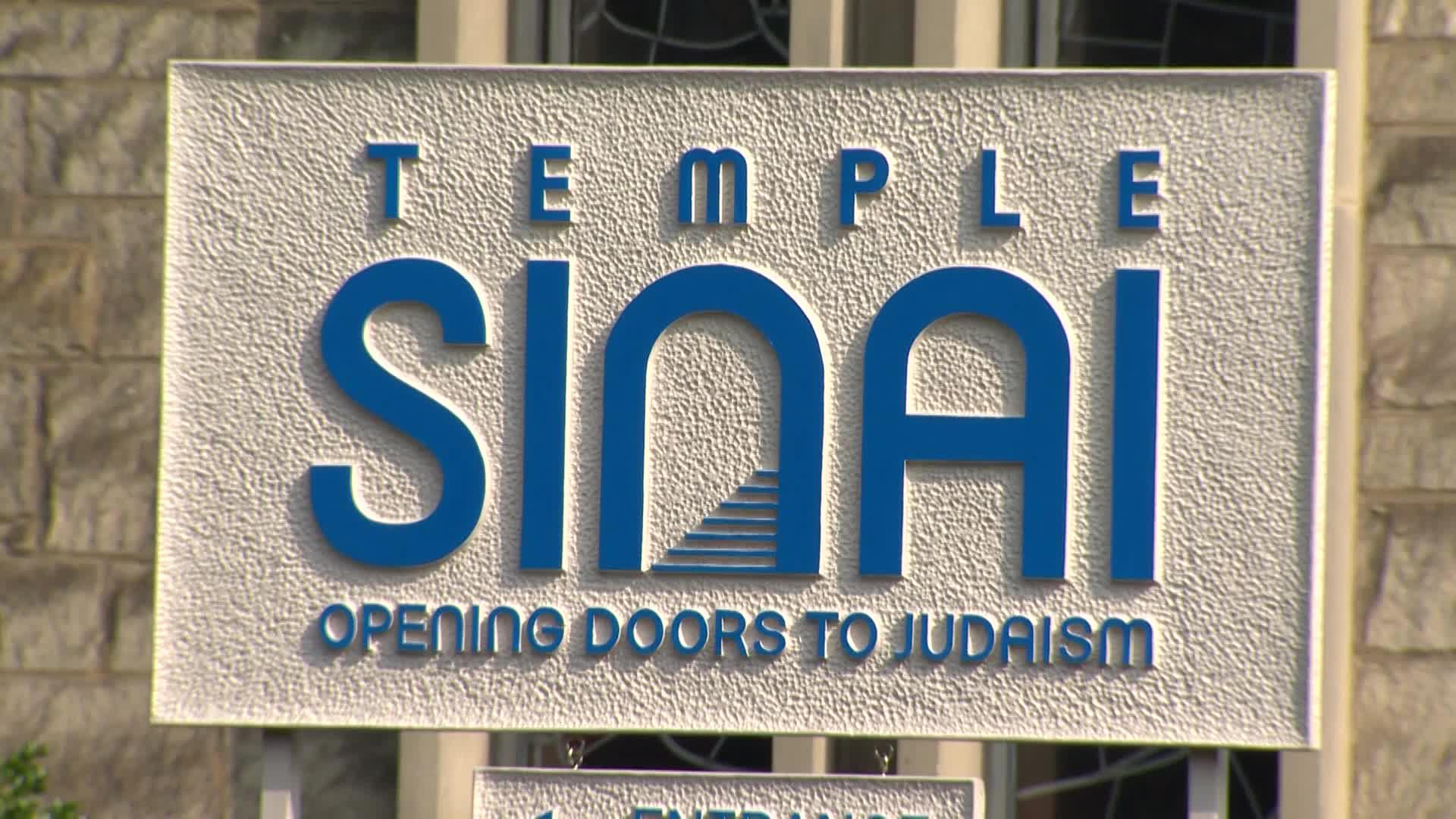 Temple Sinai sign