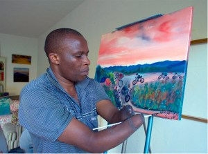 After miraculously surviving a rebel attack in Rwanda, Frederick Ndabaramiye uses painting, cycling, and storytelling to change conceptions of what it means to be able.