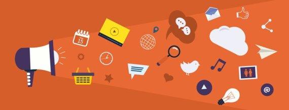 Megaphone Orange Background