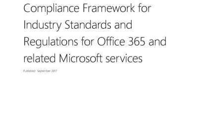 Compliance Framework for Industry Standards and Regulations for Office 365 and related Microsoft services