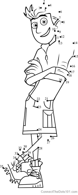 Chris Kratt Dot To Dot Printable Worksheet