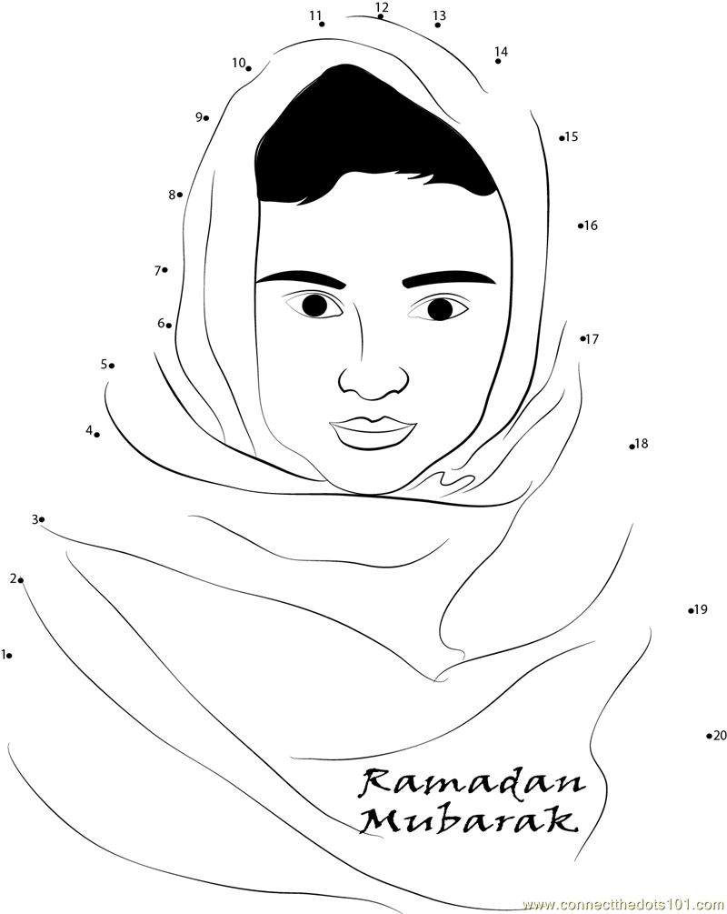 Beautiful Ramadan Dot To Dot Printable Worksheet