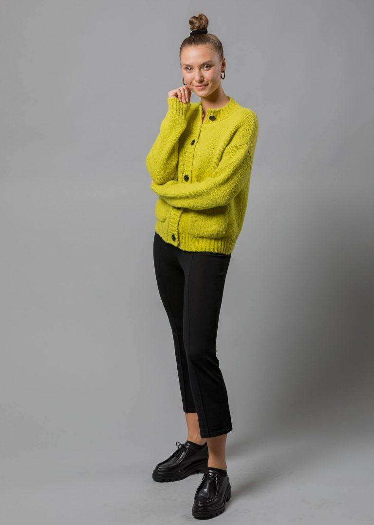 heidrun jacke neon gelb von connemara - eine kuscheljacke damen