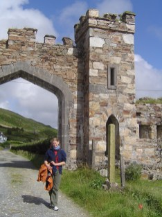 Entrance to the walk to the ruine