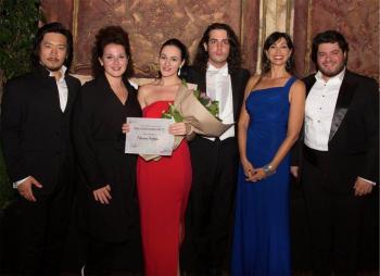 Da sinistra: Hankyol Kim, Clarissa Costanzo, Adriana Ferfecka, Lorenzo Passerini, Luisa Corna, Azer Zada - Foto Giuliano Ghiraldini