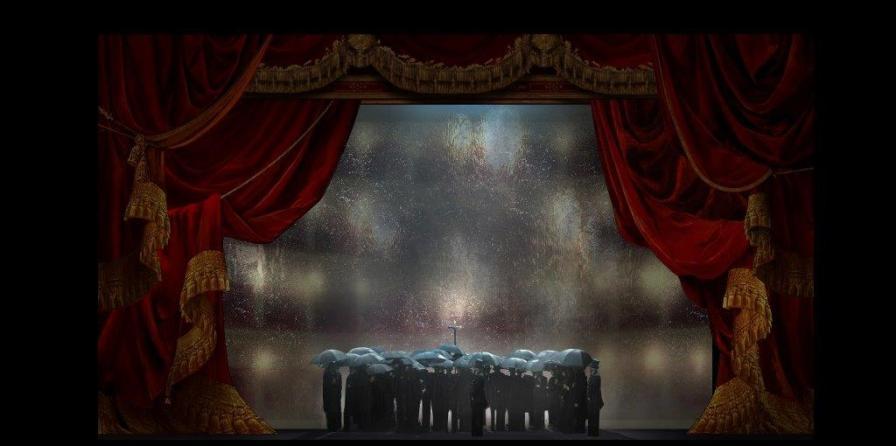 Bozzetto di Ezio Frigerio per La traviata