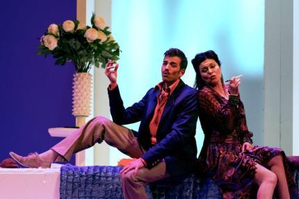 """Vittorio Prato con Anna Caterina Antonacci nel """"Segreto di Susanna"""" all'Opéra Comique di Parigi"""