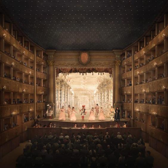 Ricostruzione digitale di come potrebbe apparire il Teatro San Cassiano (credits Secchi Smith)