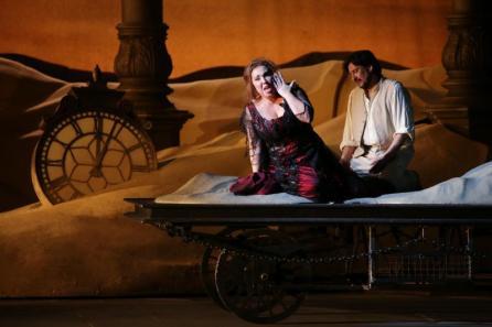 Maria José Siri con Marcelo Alvarez in Manon Lescaut, Teatro alla Scala - Photo credit: Brescia e Amisano