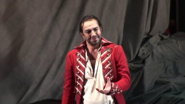 Claudio Sgura nel ruolo di Gérard in Andrea Chénier