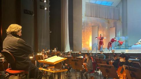 Le prove di Così fan tutte, con Riccardo Muti, al Teatro Regio di Torino