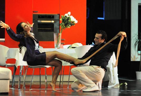 Josè Maria Lo Monaco nella Scala di seta al ROF - Photo credit: Alessia Santambrogio