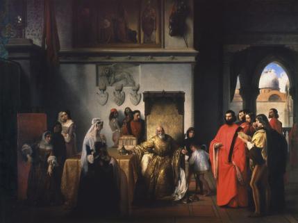 Francesco Hayez, Francesco Foscari destituito, 1842-44 (Pinacoteca di Brera, Milano)