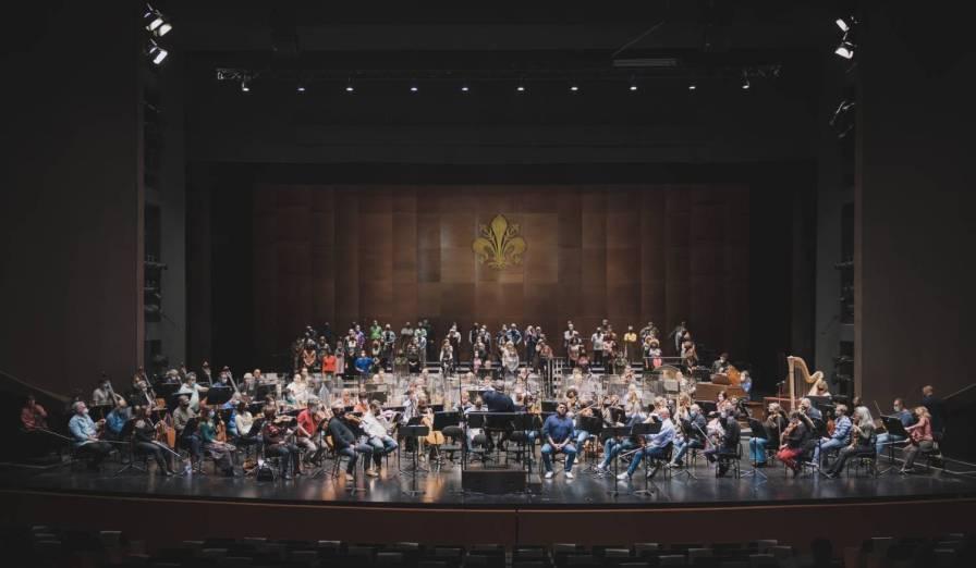 Un momento delle prove di Tosca al Teatro del Maggio - Photo credit: Michele Monasta