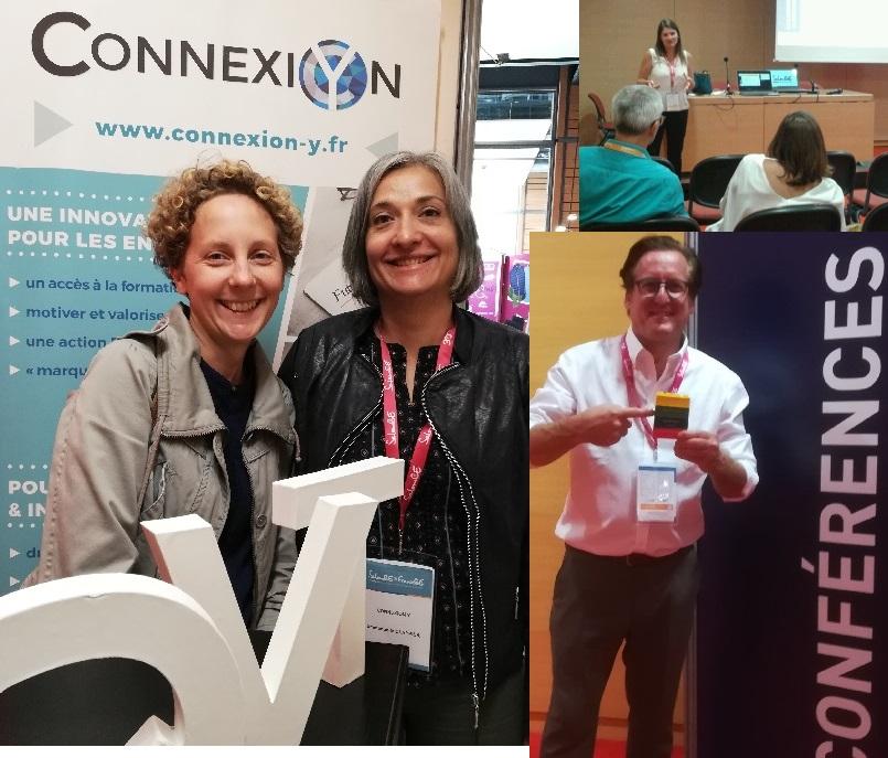 Conférence QVT Connexion Y Cyrielle Guelle Emmanuelle Clappier Audrey Moine et John Morgan