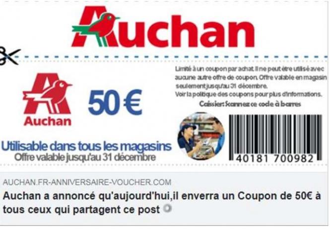50 auchan voucher online scam