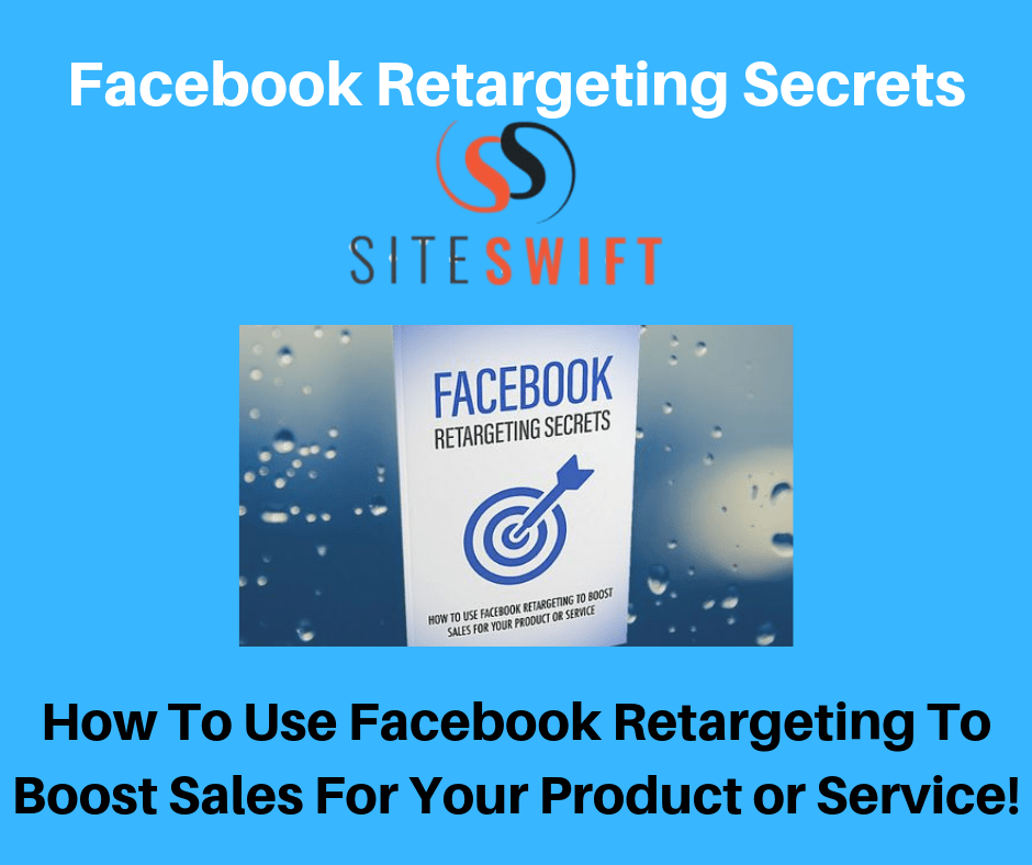 A Bonus page in blue showing Facebook Retargeting Image