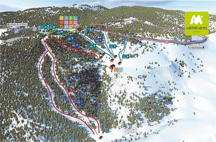 Esquiar con Niños - pistas de Valdelinares