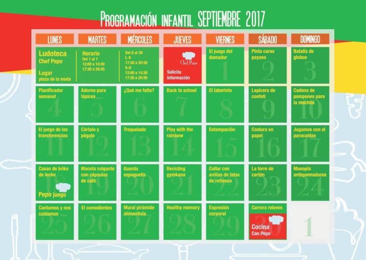 programación 2017 septiembre