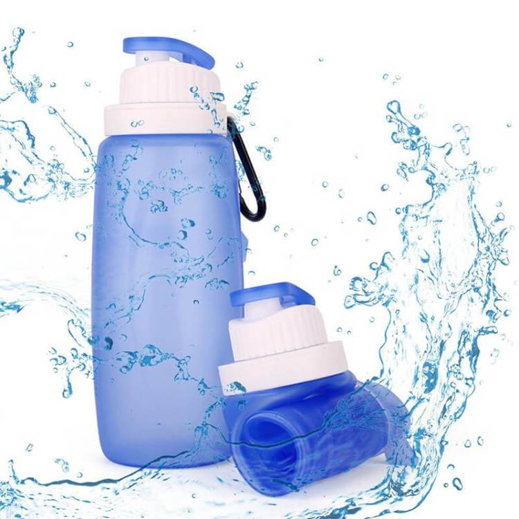 botella de agua plegable