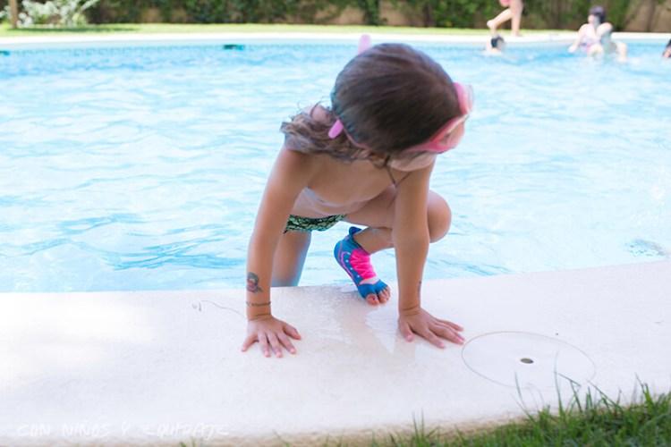 calcetines antideslizantes para la piscina