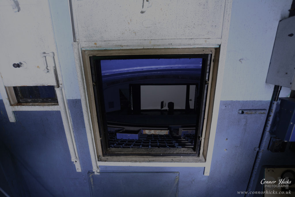 Portsmouth Hampshire Urbex Photography Odeon Cinema Northend Projection hole 1024x683 Odeon Cinema, Portsmouth