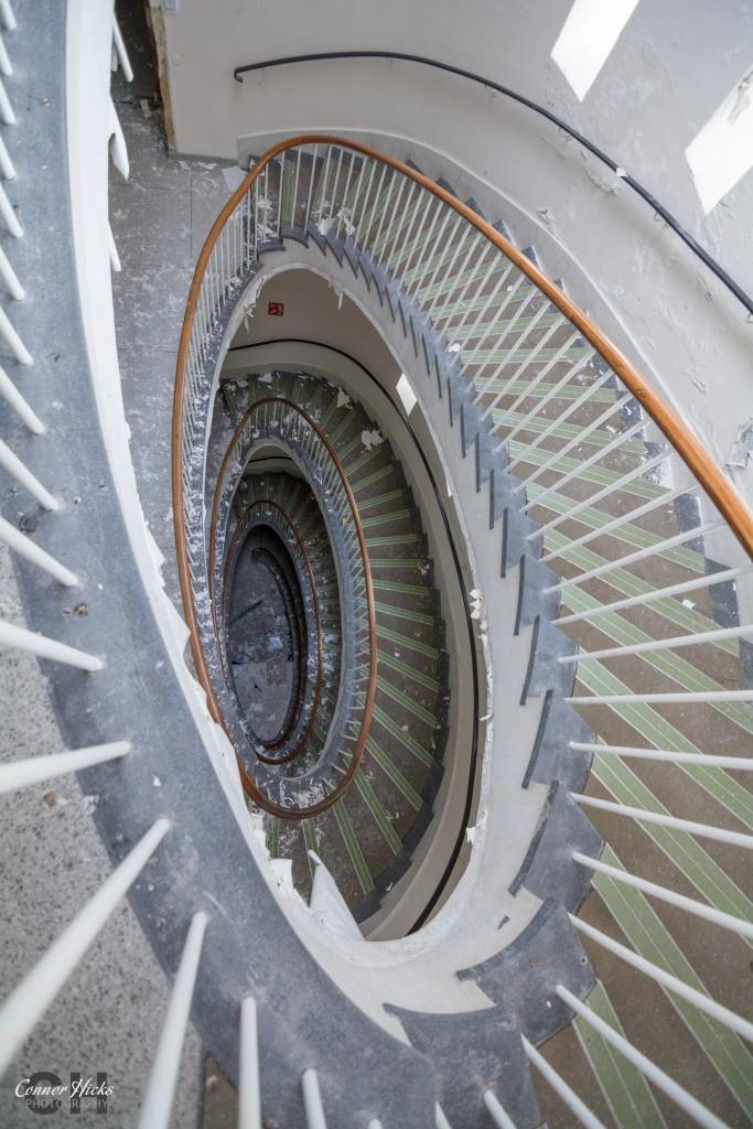 Spiral Staircase Haslar Hospital 683x1024 The Royal Hospital Haslar, Gosport