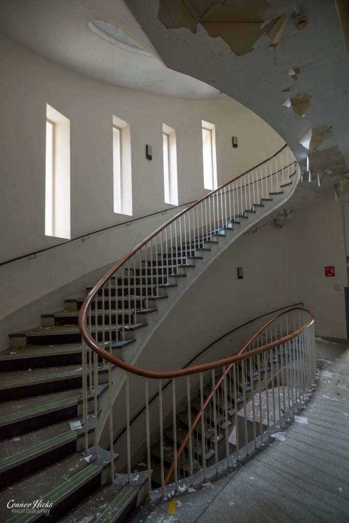 Urbex Haslar Hospital Spiral Staircase 683x1024 The Royal Hospital Haslar, Gosport