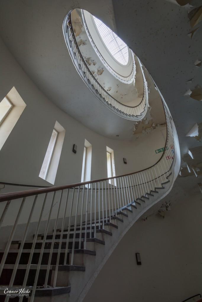 Urbex Hospital Haslar Staircase 683x1024 The Royal Hospital Haslar, Gosport