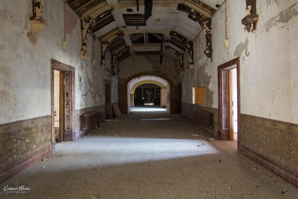 High Royds Asylum Arches Corridor 1024x683 High Royds Asylum, Leeds