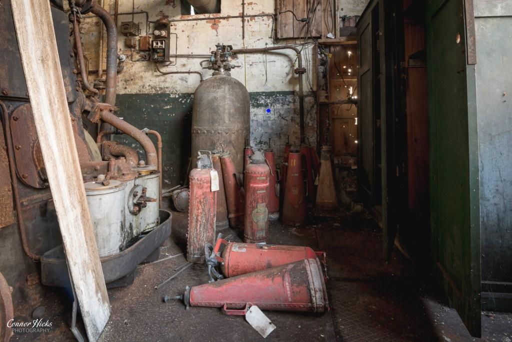 Urbex Fire Extinguishers Somerset Tonedale Mills 1024x683 Tonedale Mills, Somerset