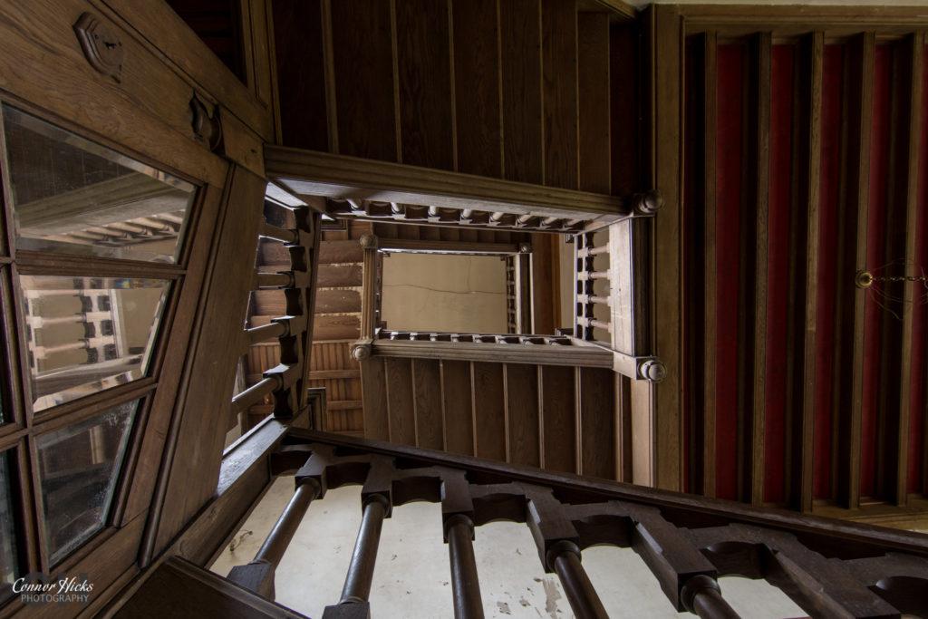 Stairs Chateau Sanglier Urbex 1024x683 Chateau Sanglier, France